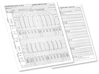 "Click on the photos to download test chart of ""pitch and tooth concentricity"" and test chart of ""profile and helical""  (700 kb)"